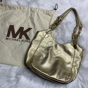 Michael Kors Metallic Gold shoulder bag purse